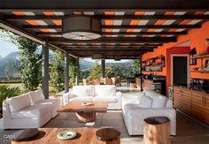 Patio - Orange & Black