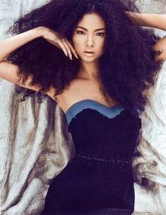 Natural hair,Asian persuasion,gorgeous hair