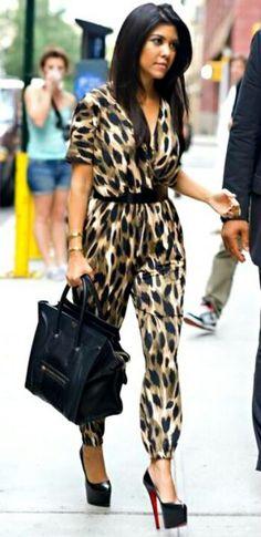Kourtney Kardashian. Celine bag - Christian Louboutin shoes