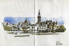 Sevilla, view from Triana