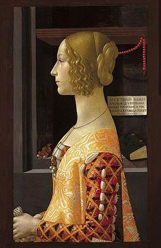 Domenico Ghirlandaio (Firenze, 1449 – Firenze, 11 gennaio 1494)  Giovanna Tornabuoni