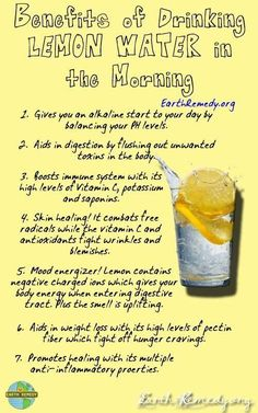 Benefits of Drinking Lemon Water in the Morning....