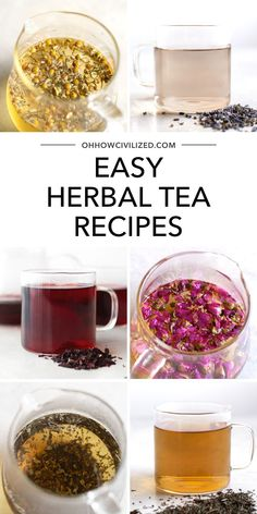 Are you looking to start a tea-making routine? You're on the right page! Here are easy herbal tea recipes you can start with that won't take too much or too long to make. Click to explore! Herbal Tea Benefits, Best Herbal Tea, Herbal Teas, Best Tea, Health Benefits, Weight Loss Tea, Hot Tea Recipes, Homemade Tea, Tea Blends