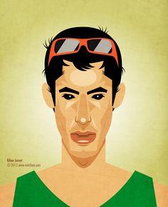 Kilian Jornet #illustration #portrait #running #vectorial #sports