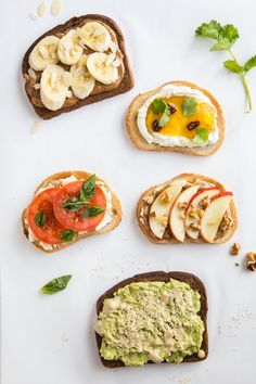 Open-faced sandwiches are the best! Our favorite: a soft, French baguette, with a schmear of creamy topped with thinly sliced cucumbers. Healthy Meals For Two, Healthy Snacks, Easy Meals, Healthy Recipes, Cooking Recipes, Morning Food, Lunch Recipes, Breakfast Recipes, Clean Eating Snacks