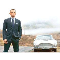 My two favorite things Daniel Craig and a Aston Martin DB5!