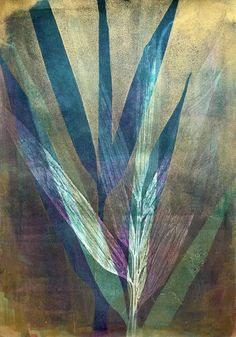 Herb Art, Bamboo Leaves, Collagraph, Gelli Printing, Ready To Pop, Source Of Inspiration, Unique Photo, Buy Frames, My Favorite Color