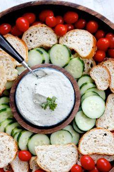 trempette concombre tomate crouton pain