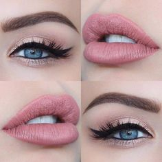Visit the webpage to learn more about makeup trends Prom Makeup, Wedding Hair And Makeup, Bridal Makeup, Lip Makeup, Pink Lipstick Makeup, Burgundy Lipstick, Rave Makeup, Clown Makeup, Scary Makeup