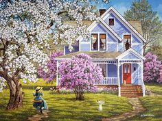 Картинки по запросу домики вышитые крестиком