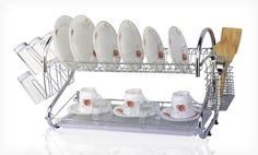 Groupon - $ 21.99 for a Two-Tier Chrome Dish Rack ($ 44.64 List Price). Free Shipping and Returns.. Groupon deal price: $21.99