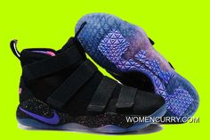 new product 8654a 63445 Cheap Nike LeBron Soldier 11  Galaxy  Black Purple Pink Sale Lastest