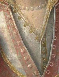 Close up of the buttons on the Rossi portrait