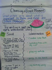 writers workshop anchor charts