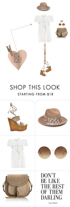 """Don't Be Like The Rest Of Them Darling"" by christine-sacco ❤ liked on Polyvore featuring Steve Madden, Eugenia Kim, Boohoo, Victoria Beckham, Chloé and Saachi"