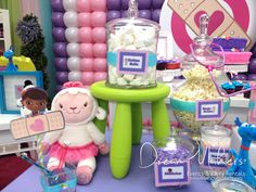 So much fun at a Doc McStuffins birthday party!  See more party ideas at CatchMyParty.com!