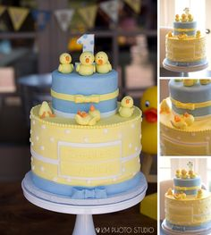 Plano Birthday Photographer, One Year Party, Rubber Ducky Party, One Year Pool Party, KM Photo Studio Rubber Duck Cake, Rubber Ducky Party, Rubber Ducky Baby Shower, Baby Shower Duck, Baby Shower Cakes, Bubble Birthday Parties, 1st Birthday Cakes, Boy First Birthday, Ducky Baby Showers