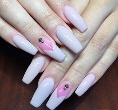 Top 27 Amazing Long Nails Ideas – Acrylic Glamorous Long Acrylic Nail Art Designs Acrylic long nails styles show off your feminine power to the globe. Almond Acrylic Nails, Summer Acrylic Nails, Best Acrylic Nails, Cute Acrylic Nails, Summer Nails, Pink Acrylic Nail Designs, Nail Art Designs, Nails Design, Stone Nail Art