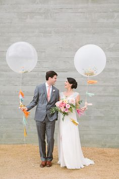 Confetti balloons and tassels.