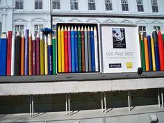 Building Hoardings taken from a coach window., by DianneB1960 via Flickr