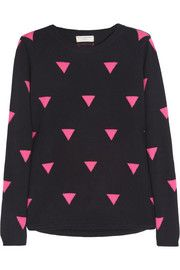 Chinti and Parker Triangle-intarsia cashmere sweater