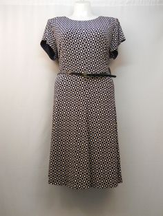 Plus size 22w women s dress jessica howard scoop neck short sleeves