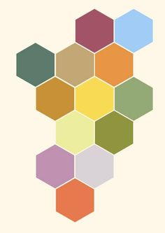 Hexagons  Pattern  Contemporary  Abstract Art by susanjeanpeters, £9.75