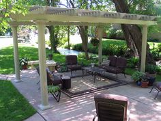 How to Build a Pergola on Concrete Patio is an outdoor structure that is used to define a place for outdoor entertaining. Pergola has a breakthrough roof and provides limited shade and little or no protection from wind and weather Diy Pergola, Hot Tub Pergola, Retractable Pergola, Building A Pergola, Metal Pergola, Pergola With Roof, Cheap Pergola, Outdoor Pergola, Wooden Pergola