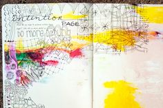 Art Doodle Love Blog Hop! - daisy yellow - create explore paint
