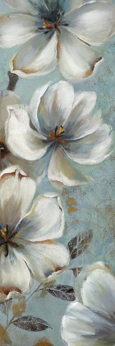 Fragrant Blues Panel 1 by Sandy Doonan 2 Piece Painting Print on Wrapped Canvas Set