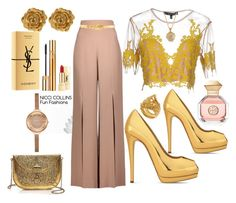 Fun Fashions by niccicollins on Polyvore featuring polyvore fashion style For Love & Lemons Cushnie Et Ochs Giuseppe Zanotti From St Xavier Liberty Vanzi 2028 Alexander McQueen Tory Burch Yves Saint Laurent clothing