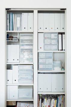 無印良品のボックスとケースで、散らかるリビングと洗面所をすっきり! | リビングの収納庫 | 65620