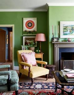 Cozying into County Durham, English Style Abounds! – The Simply Luxurious Life® Antique Interior, English Interior, Uk Magazines, Interior Decorating, Interior Design, Decorating Ideas, Yellow Walls, English Style, Cafe Design