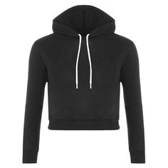 Yoins Plain Black Color Double Straps Front Hooded Crop Sweater ($22) ❤ liked on Polyvore featuring tops, sweaters, hoodies, black, hooded top, drop shoulder tops, hooded sweater, cropped sweater and drop shoulder sweater