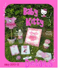 DETAILS SOUVENIRS FACEBOOK Pack kitty para Baby shower
