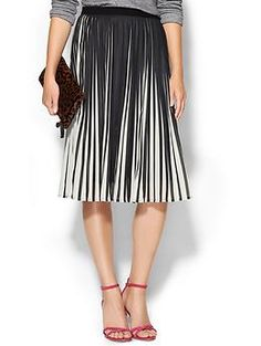 C.Luce Stripe Illusion Pull On Skirt | Piperlime