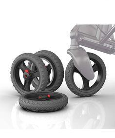 Topro Set abnehmbare Offroad- Räder, Rollator Zubehör für Troja 2G