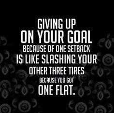 Giving up on goals... Youbeautifulandhealthy.net