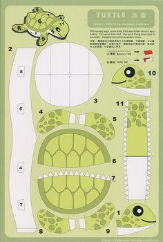 Turtle - Cut Out Postcard | Flickr: Intercambio de fotos