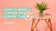 Today I'm going to show you how to make a copper pipe coffee table (which is actually going to be made out of conduit because it's cheaper and better).