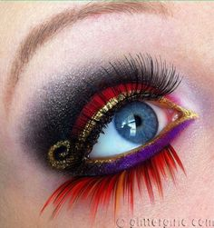 Here I have compiled together a lovely collection of colorful and creative eye make-up. This is another one for the girls, similar to my previous po