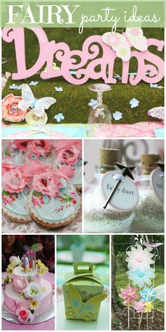 So many lovely floral ideas and decorations at this Fairy girl birthday party!  See more party ideas at CatchMyParty.com!