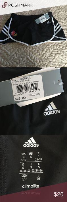 NWT Adidas running shorts NWT University of Louisville running shorts. Size small adidas Shorts