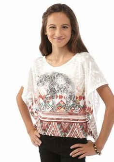 Beautees  Tribal Elephant Square Top Girls 7-16