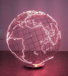 p/neon-globus-monahatoum-art-paris-centrepomp-asthetisch - The world's most private search engine Collage Mural, Bedroom Wall Collage, Photo Wall Collage, Picture Wall, Aesthetic Colors, Aesthetic Art, Aesthetic Bedroom, Aesthetic Pastel Pink, Aesthetic Galaxy