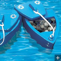 Floating cooler for the lake