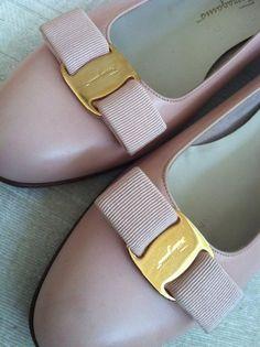 Anything Ferragamo!  Powder Pink Vintage FERRAGAMO Vara Shoes 10B by 20thCenturyFoxy, $105.00