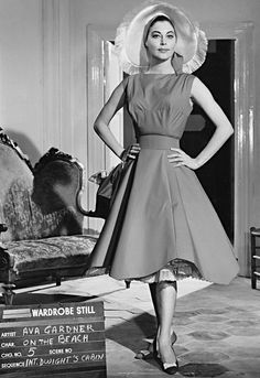 """gatabella: """"Ava Gardner, wardrobe stills for On the Beach, 1959 Costumes designed by Fontana Sisters """" Old Hollywood Stars, Old Hollywood Movies, Old Hollywood Glamour, Golden Age Of Hollywood, Vintage Hollywood, Classic Hollywood, Jean Harlow, Rita Hayworth, Marilyn Monroe"""