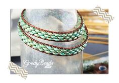 GoodyBeads.com | Blog: How to make a Super Duo Seed Bead and Leather Wrap Bracelet