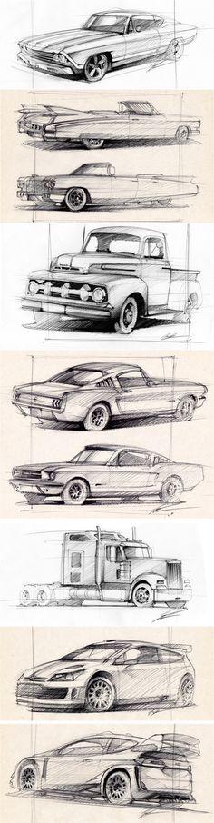 New Cars Design Sketch Behance Ideas Car Drawing Pencil, Pencil Drawings, Art Drawings, Drawing Art, Drawing Tips, Car Design Sketch, Design Cars, Car Sketch, Cool Car Drawings